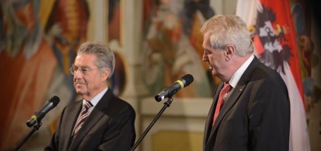 Projev prezidenta republiky před tiskovou konferencí při setkání s Heinzem Fischerem
