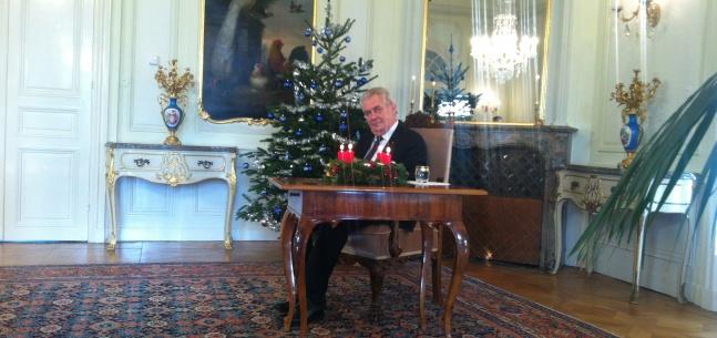 Vánoční poselství prezidenta republiky Miloše Zemana