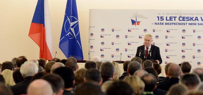 """Projev prezidenta republiky na národní konferenci """"15 let Česka v NATO – Naše bezpečnost není samozřejmost"""""""