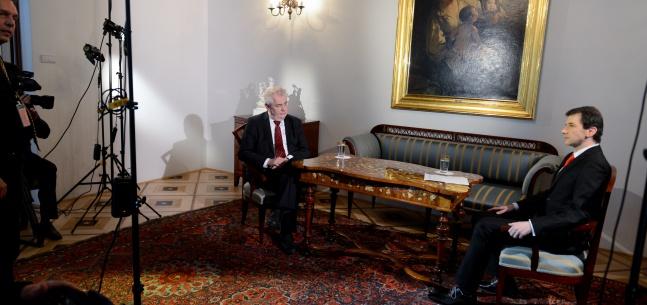 """Rozhovor prezidenta republiky pro Českou televizi při příležitosti """"15 let Česka v NATO"""""""