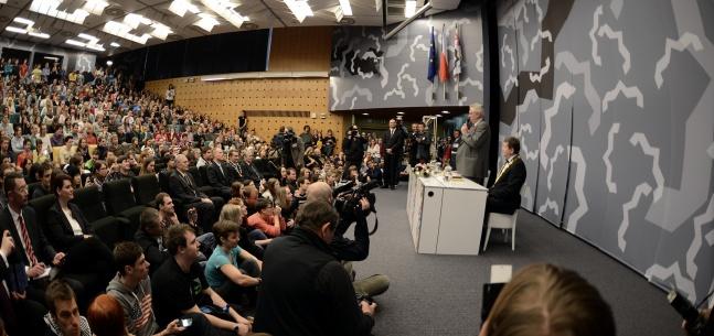 Projev prezidenta republiky na Univerzitě Hradec Králové