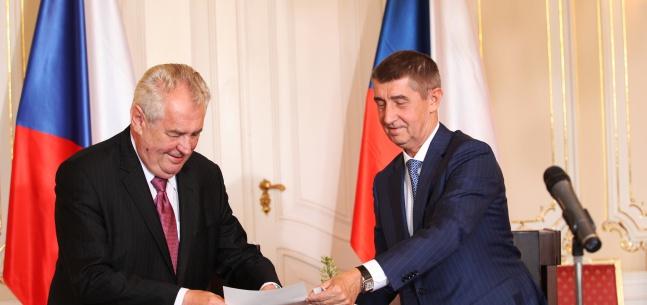 Tisková konference prezidenta republiky a ministra financí ČR