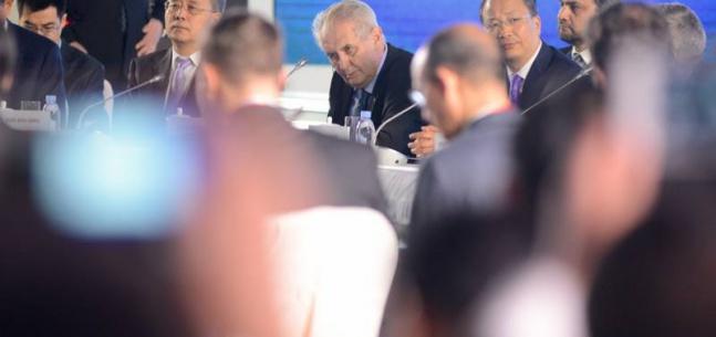 """Projev prezidenta republiky při diskusním kulatém stolu fóra """"One Belt, One Road"""""""