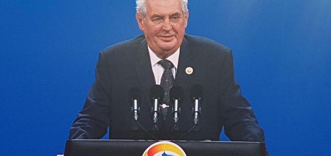 Projev prezidenta republiky při fóru One Belt, One Road