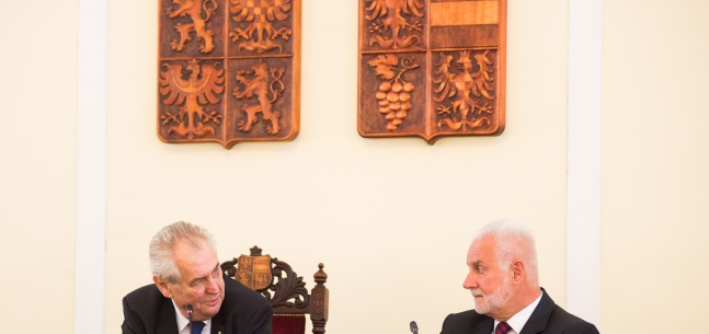 Projev prezidenta republiky při setkání se členy Zastupitelstva Jihomoravského kraje