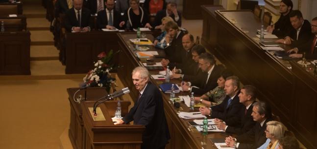Projev prezidenta republiky při 5. schůzi Poslanecké sněmovny