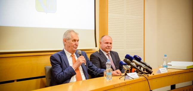 Projev prezidenta republiky při setkání se zastupiteli Olomouckého kraje