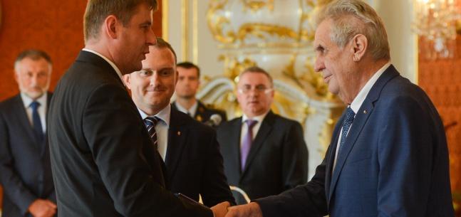 Projev prezidenta republiky při jmenování Tomáše Petříčka ministrem zahraničních věcí