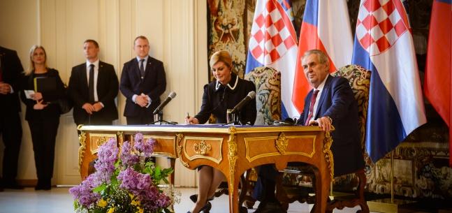Projev prezidenta republiky při tiskové konferenci u příležitosti oficiální návštěvy chorvatské prezidentky v České republice