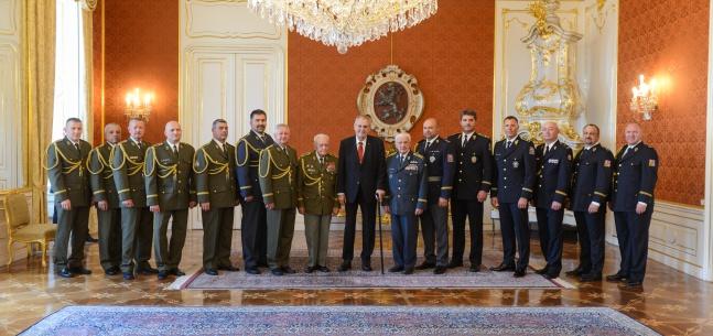 Projev prezidenta republiky při jmenování nových generálů