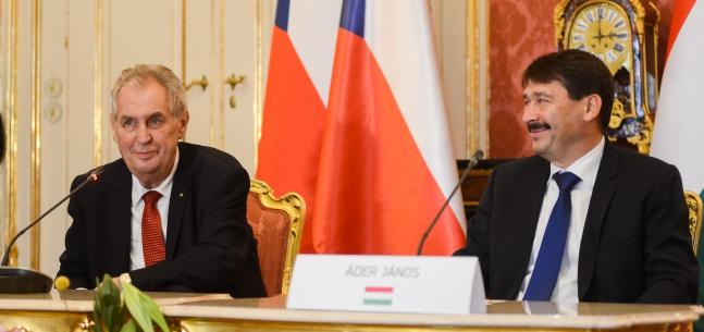 Projev prezidenta republiky při setkání se zástupci tisku k oficiální návštěvě Maďarska