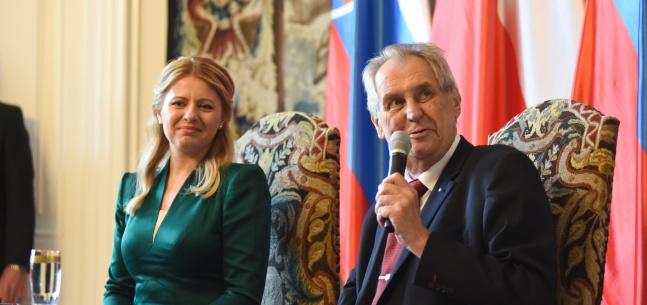 Projev prezidenta republiky při setkání českého prezidenta a slovenské prezidentky se zástupci médií