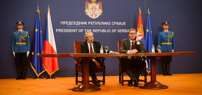 Projev prezidenta republiky při tiskové konferenci při návštěvě Srbské republiky