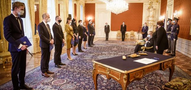 Projev prezidenta republiky při jmenování soudců obecných soudů