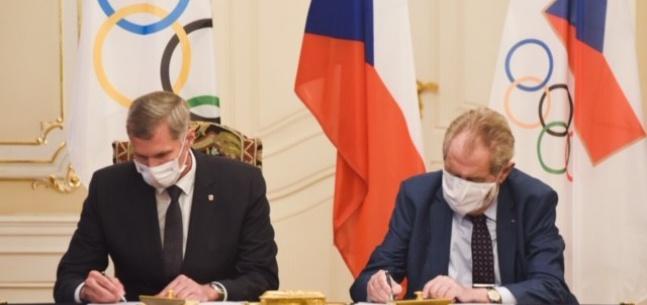 Projev prezident republiky při podpisu přihlášky ČR na olympijské hry