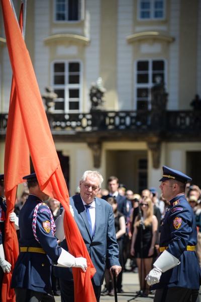 Prezident republiky Miloš Zeman 5. června 2015 na Pražském hradě